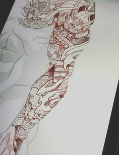 Piece has been spoken for ? - Piece has been spoken for ? Japanese Tattoo Art, Japanese Dragon Tattoos, Japanese Tattoo Designs, Japanese Sleeve Tattoos, Arm Sleeve Tattoos, Tattoo Sleeve Designs, Leg Tattoos, Body Art Tattoos, Samurai Tattoo Sleeve