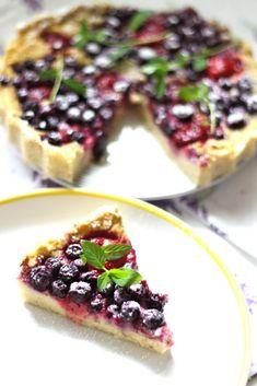 ciasto z kaszy jaglanej z owocami Healthy Cake, Healthy Desserts, Summer Pie, Vegetarian Recipes, Cooking Recipes, Winter Desserts, Food Allergies, Sweet Recipes, Good Food