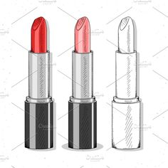 Makeup Products Drawing Sketches Ideas For 2019 Bright Lipstick, Lipstick Set, Makeup Drawing, Makeup Art, Beauty Makeup, Hand Makeup, Lipstick Tattoos, Realistic Sketch, Perfume