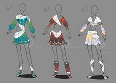 Outfit Collection Adopts - sold by Nahemii-san on DeviantArt