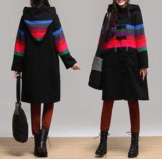 Warme Jacken - Woman casual loose hooded Thick jacket - 018 - ein Designerstück von FlowerOcean bei DaWanda