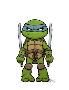 I& been drawing more Chibi type characters for work as of late so decided to do another turtle for practice. Hence Leo here. Leo was never my favorite, but I still like his character as kind of. Ninja Turtles Art, Teenage Mutant Ninja Turtles, Teenage Turtles, Comic Books Art, Comic Art, Manga Anime, Chibi Characters, Character Design, Fandom