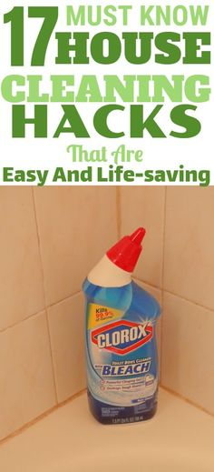 17 Must-know house cleaning hacks that are so easy - Home Cleaning Routine Household Cleaning Tips, House Cleaning Tips, Green Cleaning, Diy Cleaning Products, Cleaning Hacks, Spring Cleaning, How To Clean Rust, How To Remove Rust, Clorox Bleach
