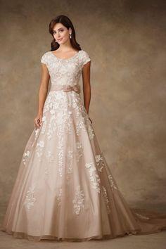 Elegant A-line Mon Cheri wedding gown: http://www.stylemepretty.com/lookbook/designer/mon-cheri/traditions-by-mon-cheri-spring-2017/ #sponsored