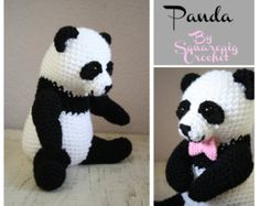 Amigurumi Oso Panda Patron : Crochet panda pattern planetjune by june gilbank amigurumi