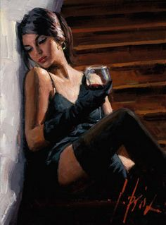 Fabian Perez Saba on the Stairs Whitewall painting for sale - Fabian Perez Saba on the Stairs Whitewall is handmade art reproduction; You can shop Fabian Perez Saba on the Stairs Whitewall painting on canvas or frame. Fabian Perez, Photo Glamour, Jack Vettriano, Painted Ladies, Pulp Art, Woman Painting, Sexy Painting, Beautiful Paintings, Beautiful Wall