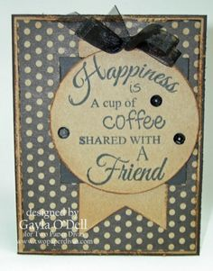 Last Day of the Coffee Blog Hop! - Two Paper Divas