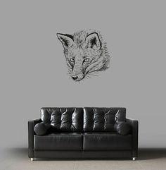 kik2945 Wall Decal Sticker animal fox living room bedroom