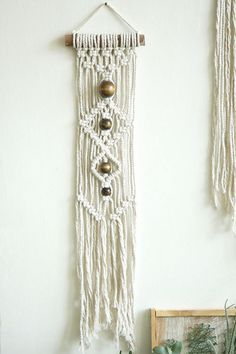 Small wall hanging macrame hanging wall tapestry boho decor wall art fiber art weaving home decor hand made wood beads boho chic Macrame Wall Hanging Patterns, Boho Wall Hanging, Macrame Patterns, Hanging Art, Macrame Design, Macrame Art, Macrame Projects, Love Wood Sign, Wall Tapestry