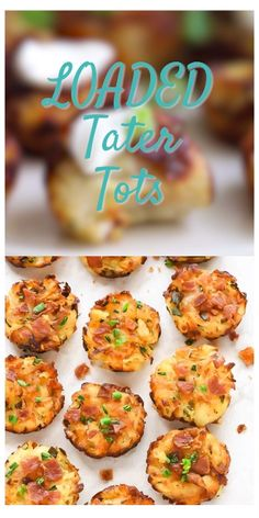 Healthy Baked Tater Tots with cheese and bacon, cooked the easy way in Muffin Tin Potatoes, Muffin Tin Eggs, Bacon Muffins, Potato Muffins Recipe, Mini Egg Muffins, Homemade Tater Tots, Homemade Muffins, Muffin Tin Breakfast, Tater Tot Recipes