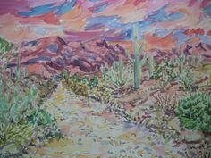 Now selling on Etsy, Snakes path, watercolor  Marcel Serraillier    serraillier@aol.com