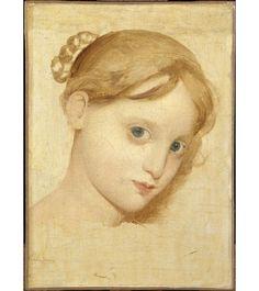 Tête de jeune fille blonde aux yeux bleus (Laure Zoega ?) de Jean-Auguste-Dominique Ingres
