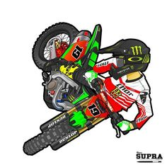 #13 Mx Bikes, Motocross Bikes, Dirt Bikes, Motorcycle Tattoos, Motorcycle Art, Bike Art, Motocross Couple, Dirt Bike Birthday, Super Pictures