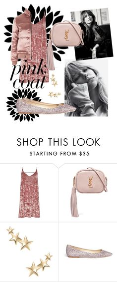 """""""❤"""" by reinenoire ❤ liked on Polyvore featuring River Island, Yves Saint Laurent, Kenneth Jay Lane, Jimmy Choo and Topshop"""