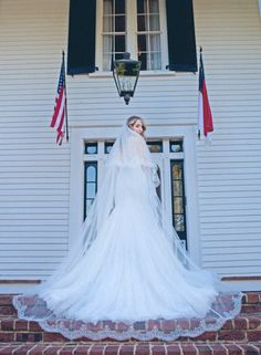 Rose Hill Plantation - Cathedral Length Veil - Ave Nocturna Photography - NC Wedding Planner Orangerie Events