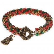 Christmas Crochet Bracelet