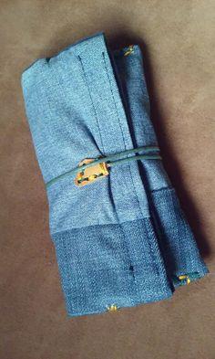 Portatabacco jeans cucitura a mano bicolore porta di robafattamman