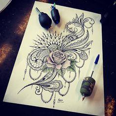 Finished working on this today #hardwork #mendi #mandala #tattooideas #tattoodesign #rose #rosetattoo #lace #lacetattoo #inked #cornwall #newquay #atlanticcoasttattoo #fourfingers