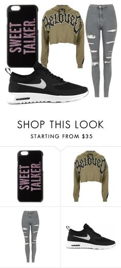 """""""Untitled #2174"""" by jem0kingston ❤ liked on Polyvore featuring Kate Spade, Topshop and NIKE"""