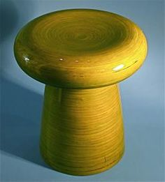 Handmade bamboo design green sitting stool    http://www.busaccagallery.com/catalog.php?catid=71&itemid=4321&page=1
