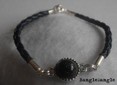 Granatowa pleciona - Noc Kairu - BangleDangle - Bransoletki