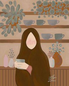 Girl Cartoon, Cartoon Art, Islamic Cartoon, Anime Muslim, Hijab Cartoon, Anime Wallpaper Live, Muslim Girls, Islamic Art, Aesthetic Anime