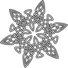 Celtic Snowflake   Urban Threads: Unique and Awesome Embroidery Designs - inspiration for a Zentangle