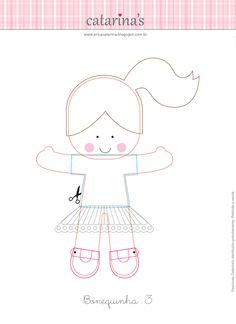 Felt doll template and instructions