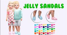 Miguel Creations TS4: Jelly Sandals