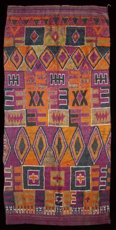 "Africa   Ait Bou Ichaouen pile rug ""Tharashna"". Morocco   Circa 1930.   300 x 150 cm."