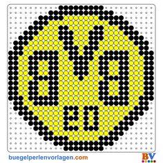Plantillas Hama Beads del Borussia Dortmund. Descarga Plantillas adicionales en: http://www.buegelperlenvorlagen.com/es