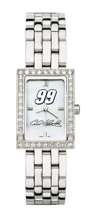 Carl Edwards #99 Women's Allure Watch with Stainless Steel Bracelet by Logo Art. $87.72. This women's fashion watch has a mother of pearl dial and Carl Edwards color logo.Features:Polished chrome finish alloy case with cubic zirconium crystalsComes with a stainless steel braceletContains Miyota quartz movementLimited lifetime warranty Team the watch up with a matching . Browse all of our Other are also available for Carl Edwards.