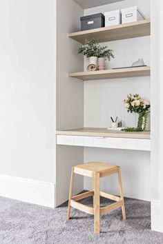 I seem to be doing a lot of these lately but my clients are loving them so who a… - Arbeitszimmer Zuhause Computer Nook, Desk Nook, Office Nook, Home Office Space, Home Office Design, Home Office Decor, Guest Bedroom Office, Study Nook, Built In Desk