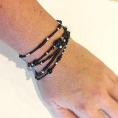 Beaded Jewelry, Unique Jewelry, Diy Jewelry, Jewellery, Stretch Bracelets, Wrap Bracelets, Black Seed, Semi Precious Gemstones, Silver Beads