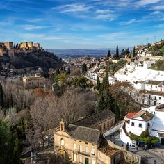 Sacromonte, Granada, Spain - The gypsy neighborhood of Sacromonte is a wonderful place to spend an afternoon walking the cobble stoned streets and checking out the homes made of caves. Plus you get a fantastic view of Granada and the Alhambra Palace.