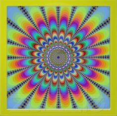 Optical illusion circular
