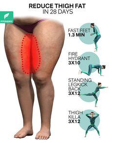 Body Weight Leg Workout, Full Body Gym Workout, Gym Workout Tips, Waist Workout, Fitness Workout For Women, Workout Videos, Leg Toning, Reduce Thigh Fat, Reduce Thighs