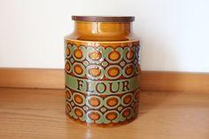 Hornsea large flour jar, Bronte, storage, Retro, 1970's by 20thCenturyParade on Etsy