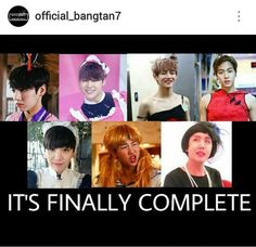 Finally!! I don't know why i feel this is a good thing. But i don't care so ...       BTS