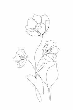 Minimalist Drawing, Minimalist Art, Tattoo Chicana, Wallpaper Harry Potter, Line Art Flowers, Line Flower, Art Minimaliste, Minimal Wallpaper, Line Art Tattoos