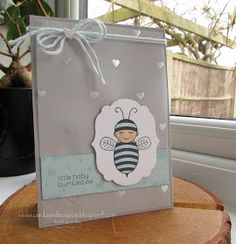 Stampin' Up UK Demonstrator Sarah-Jane Rae Cards and a Cuppa blog: Day 6 of 7 Days using Baby Bumblebee by Stampin' Up! Baby Boy Card and Mini Treat Bag Thinlits Duo