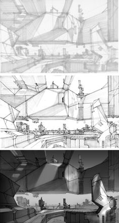 DRAWTHROUGH jr.: Environment Sketching step-by-step