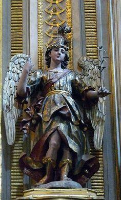 San Gabriel Arcangel, Altar de San Miguel, Catedral de Puebla, Puebla