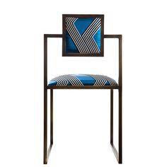 Funky Stripes Brass Square Chair - Shop Francesco Della Femina online at Artemest