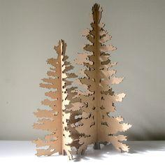 Cardboard Christmas Tree - Eco Laser Cut Holiday Decoration. $18.00, via Etsy.