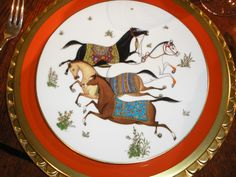 Hermes horse plates - these are screaming to be on my Christmas table