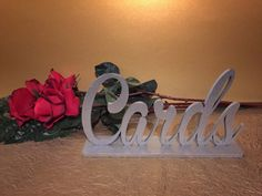 Our Cards sign is laser cut to perfection! This beautiful sign is meant to add a delicate touch to your gifts table. Where there are gifts,
