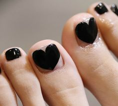 ❤ Cute toe nail art for the big toe! #unas
