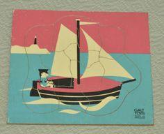 Galt 12 piece sailing boat wooden puzzle