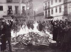 Quema y asalto de tiendas en Puente de Vallecas.11-3-1936